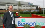 Mark Kerridge outside the Benson Box plant, Bardon