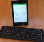 Nexus 7 with folding Bluetooth keyboard